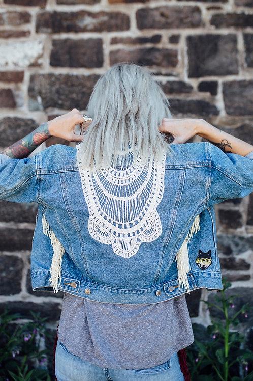 Jeans vest lace