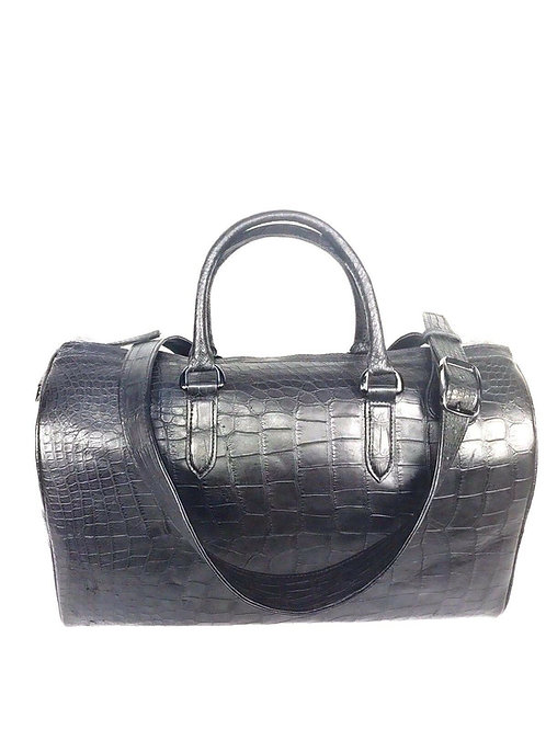 Alligator Duffle Hand Bag