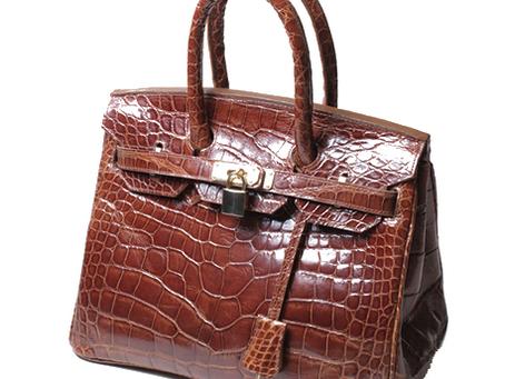 Alligator Hand made Hand Bag