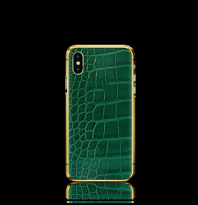 آيفون إكس إس - جلد التمساح الاخضر