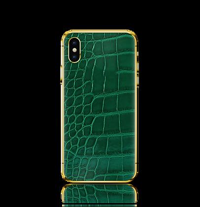 آيفون إكس إس ماكس - جلد التمساح الاخضر