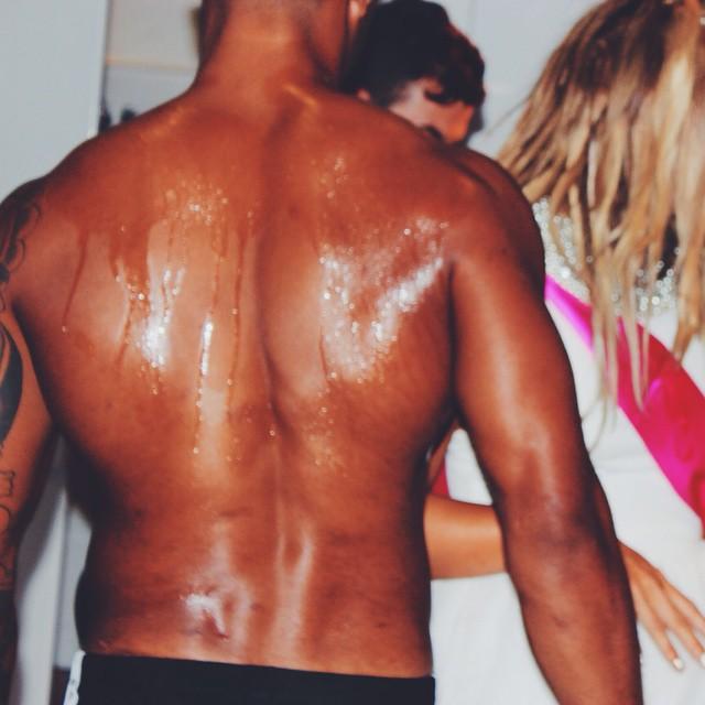 Trey Songz got messy again #betterthantrey #cabanaboys #chocolate #ilovemyjob #back #treysongz