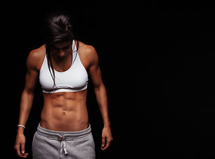 Image of fitness woman in sports clothin