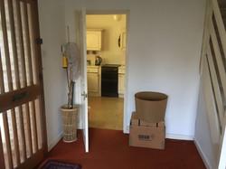 Hallway through to kitchen 'before'