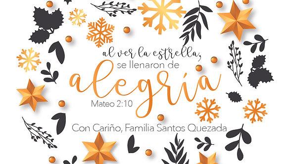 Tarjeta Navidad - Alegría
