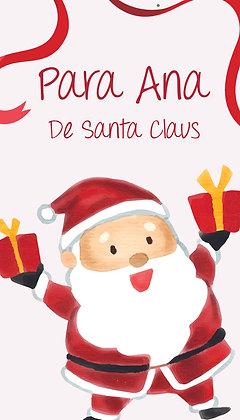 Tarjeta para Regalos de Santa Claus