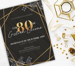 Dominoe party invitation