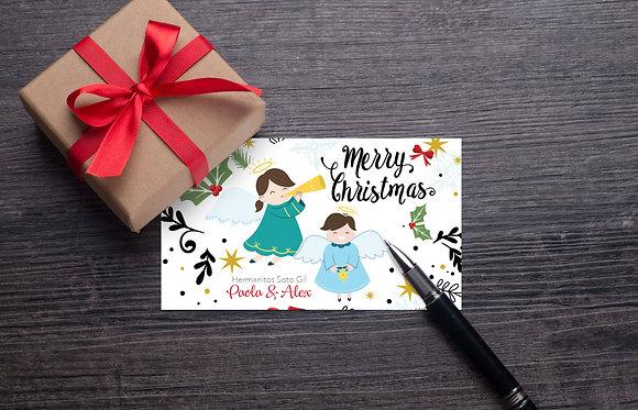 Tarjeta Navidad - Merry Christmas, hermanitos