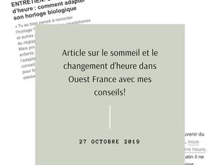 Mon interview sur Ouest-France ❤️
