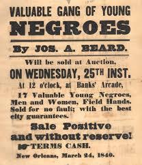 SLAVE AUCTIONS I