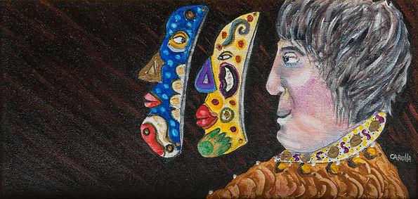 Ramon Carulla painting LAS TRES CARAS I