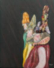 Ramon Carulla painting HOMENAGE AL CIRQUE DU SOLEIL