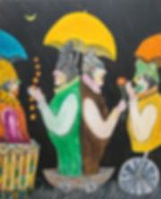 Ramon Carulla painting NIGHT DREAMERS