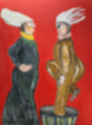 Ramon Carulla painting La Sorpresa