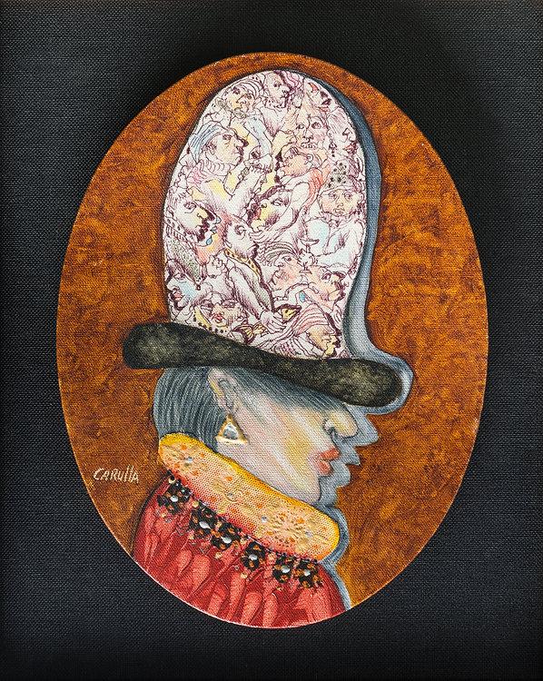 Ramon Carulla painting LA COLECCIONISTA DE DIBUJO