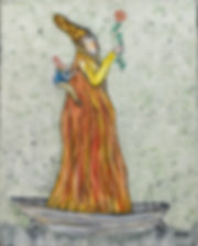 Ramon Carulla painting AL FIN LLEGUE