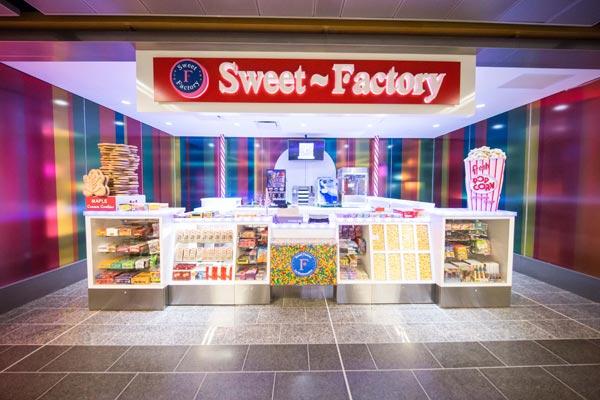 custom millwork for Sweet Factory