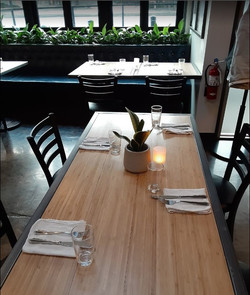 custom woodwork for dining in The Goose