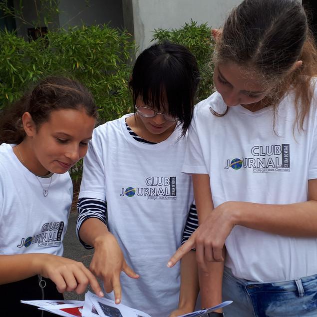Chayma, Flore et Gabrielle A. (de gauche à droite)