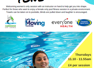 Ladies only swimming; reducing barriers to exercise