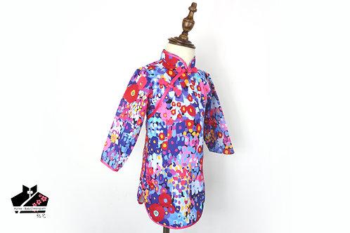 純棉長袖旗袍(十五)-碎花