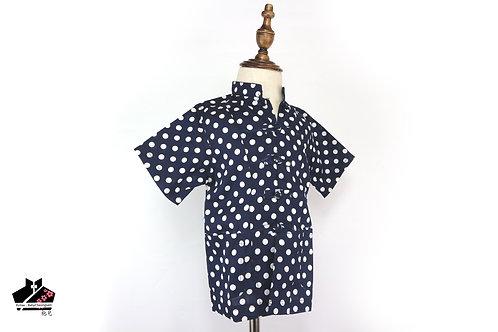 純棉短袖唐裝(一) - 圓點