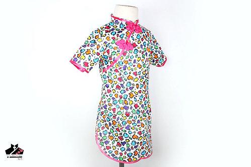 短袖旗袍-迷彩