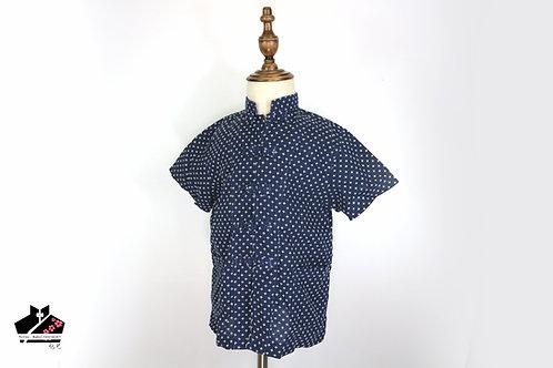 短袖唐裝-十字紋