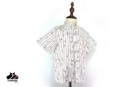 間紋短袖唐裝