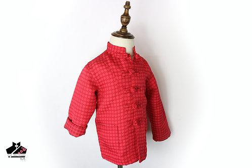 紅長袖唐裝(八)