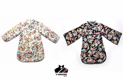 棉麻長袖旗袍(三) - 碎花