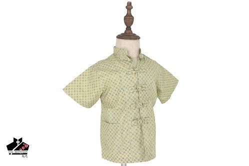 綠色短袖唐裝