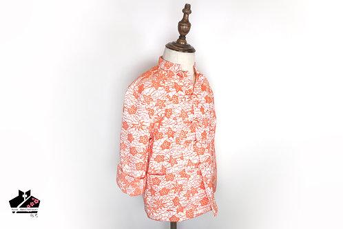 橙色長袖唐裝