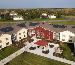 Trolley Station DePaul Canandaigua Apartments Solar Roof