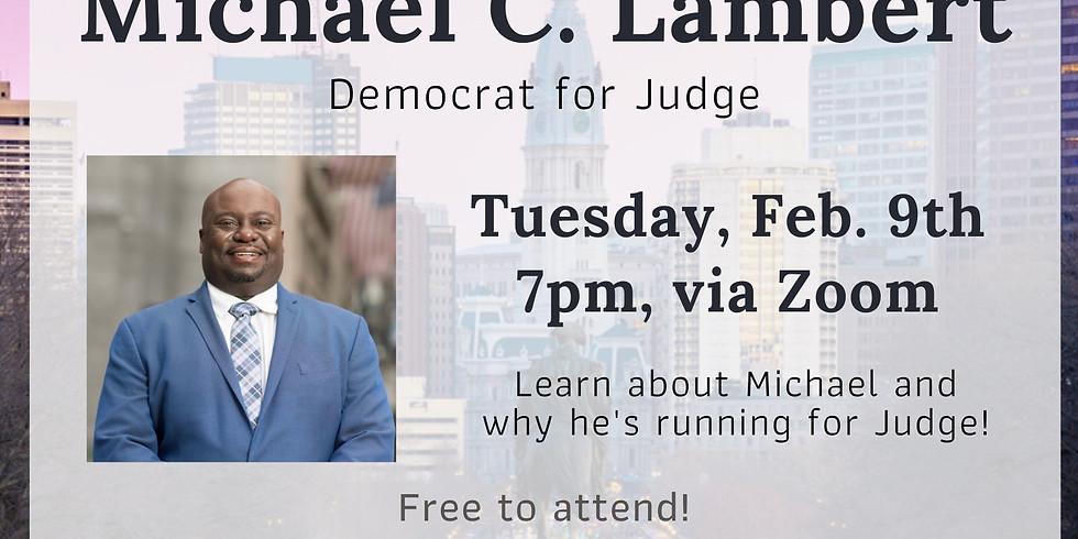 Meet & Greet with Michael C. Lambert