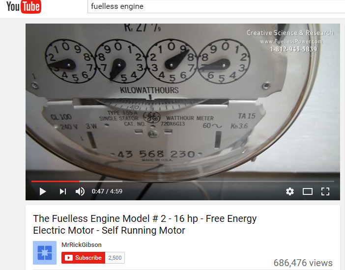 fuelless engine house meter