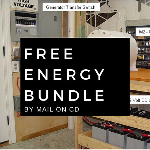 Free Energy Bundle 25 plans and 3 videos physical copy