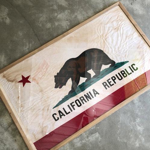 """""""ご予約""""VINTAGE CALIFORNIA STATE FLAG w/FRAME BOX"""