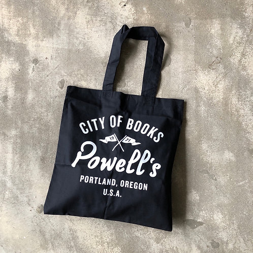 POWELL'S CITY OF BOOKS SHOPPING BAG-BK