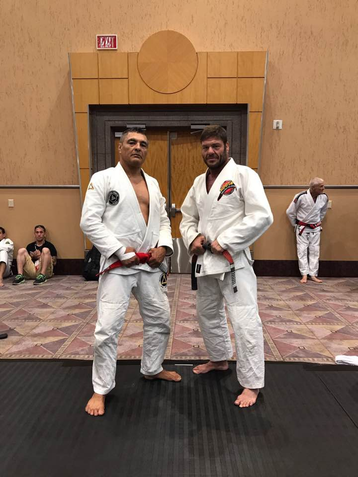 Rickson Gracie and Jorge Pereira