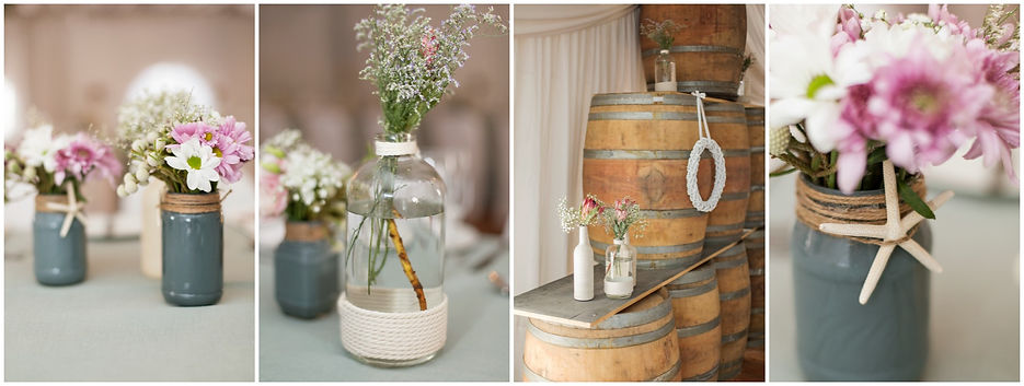 grey and purple diy wedding decor