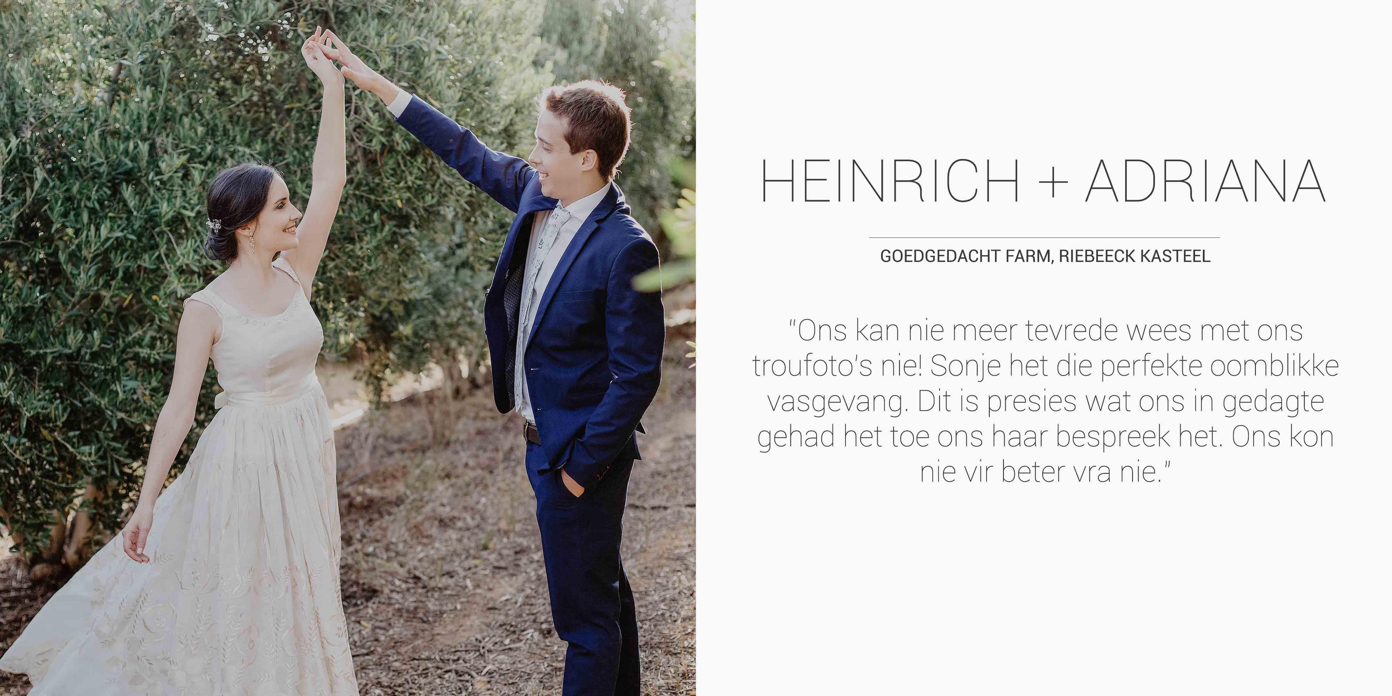 Heinrich + Adriana Desktop Testimonial
