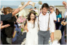 beach wedding confetti. west coast national park