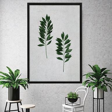 Tropical Leaves Wall Art   Single Print 12