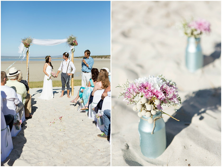 ceremony on the beach, geelbek, west coast national park