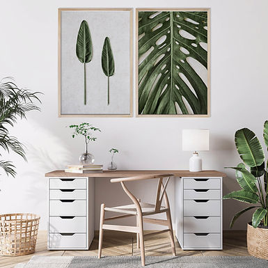 Tropical Leaves Wall Art Print Set | Collection 6