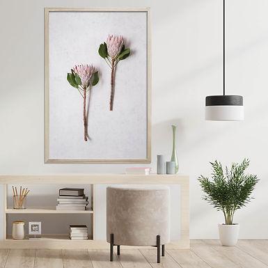 Blush Pink King Protea Wall Art   Single Print 8