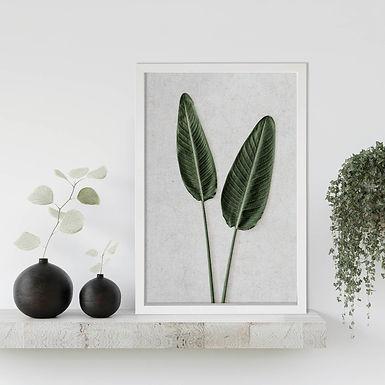 Tropical Leaves Wall Art   Single Print 8