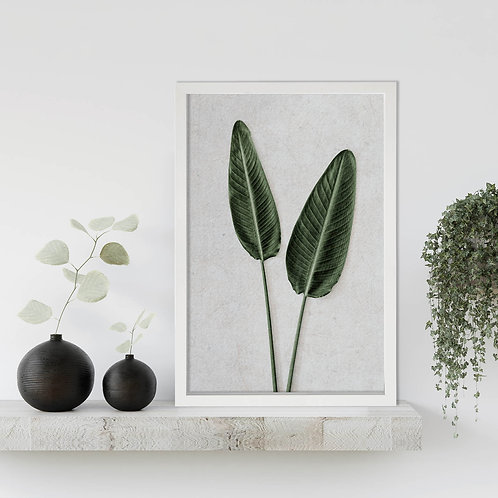 Tropical Leaves Wall Art | Single Print 8