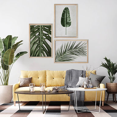 Tropical Leaves Wall Art Print Set | Collection 16